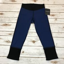 Derek Lam For Athleta Capri Leggings Yoga Fitness Athletic Blue Black Mesh Sz XS