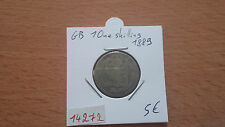GB 1 ONE SHILLING 1889 - OLD BRITISH CORNER - REF14272