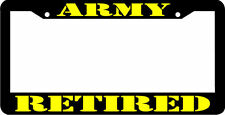 ARMY RETIRED VETERAN License Plate Frame