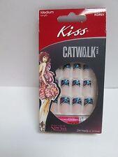 Kiss Catwalk Nails Medium Length Multi-Color Sparkle Tips Nail Kit KOR01 Lights