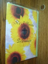 Religious: It's a Blessing to Graduate Graduation greeting Card w/CROSS * G40