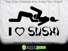 LOVE SUSHI sticker decal vinyl drift japan JDM illest toyota honda mazda nissan