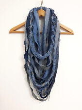 Die Frayed Denim Old Jeans Scarf Necklace Fabric Jewelry Jeans Tribal Necklace
