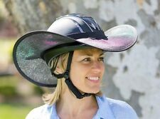 "HORSE RIDING HELMET BRIM VISOR SHADE ""NEW ""  EXTRA LARGE IN ALL BLACK"