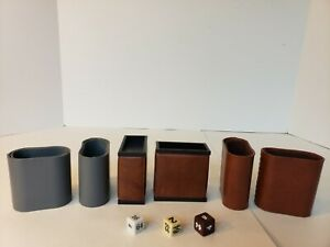 Vintage Backgammon Replacement Cups & Doublers