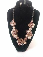 WHITE HOUSE BLACK MARKET BROWN BEADED NECKLACE NWT SIMPLE & VERSATILE