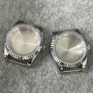 39MM Case Sapphire Glass Solid Bottom Watch Case Kits for NH35/NH36 Watch