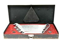 VINTAGE COLLECTIBLE 1972 CRAFTSMANS STAINLESS STEEL WRENCH SET IN CASE