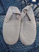 Used Men's Beige Size 9 Slippers~completely washable~soft velour feel