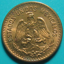 MEXICO 1942-Mo ONE 1 CENTAVO XF/AU SOME LUSTER! ESTADOS UNIDOS BRONZE 3gr 20mm