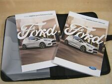 FORD FIESTA OWNERS HANDBOOK  2016-2018 OWNERS MANUAL I WALLET COVER SYNC3 ,w11