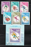 Romania 1979 MNH Mi 3666-3671+Block 164 Sc 2926-2932 Winter Olympic Games,USA **