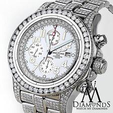 Men's Diamond Breitling Super Avenger Watch White Index Dial Model A13370