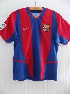 FC Barcelona Vintage Shirt Camiseta Football Top Nike Rare 2002 2003 Home Mint