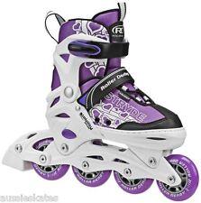 RDS Stryde Girls Kids Adjustable Inline Roller Skates Rollerblades BladesUS 11-1