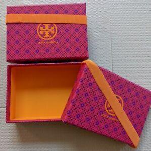 (2) TORY BURCH Gift Box w Orange Ribbon Small SET OF 2   FREE SHIPPING!
