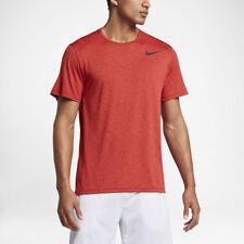 Abbiglimento sportivo da uomo leggera arancione a manica corta