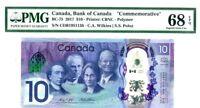 CANADA $10 DOLLARS 2017 BANK OF CANADA COMMEMORATIVE GEM UNC PICK 112 $300