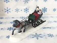 Dept 56 Dashing Through The Snow Horse Drawn Sleigh Christmas Village 5820-3