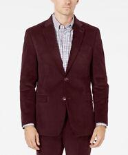 Tommy Hilfiger Modern Fit Flex Burgundy Corduroy Sport Coat Blazer 42 R