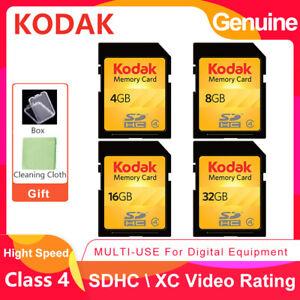 Kodak SD SDHC 2GB 4GB 8GB 16GB 32GB Class 4 C4 Flash Memory Card For Camera DSLR