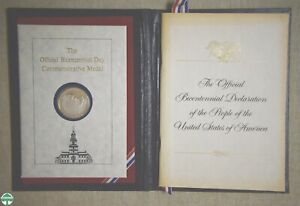 THE OFFICIAL BICENTENNIAL DAY COMMEMORATIVE MEDAL - STERLING SILVER PROOF