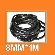 Black SWB-8 8mm Outer  Spiral Wrapping Band PE 1M/Roll Protect Pipe 3D Printer