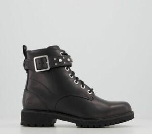 Womens Timberland Strap Boots Diamond Black Boots