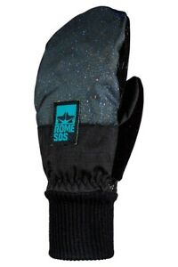 Rome Women's Daily Snowboard Mitts X-Small XS Cosmic Black New 2021