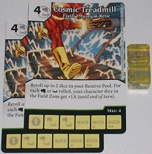 2 x COSMIC TREADMILL: FLASH MUSEUM RELIC 49 Green Arrow & The Flash Dice Masters