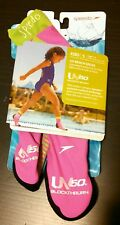 Speedo turquoise pink black girl's S age 1-2 beach shoes ages 5-8 UV resist NEW