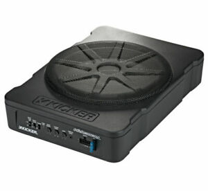 Kicker 46HS10 Hideaway Compact Powered Subwoofer, 10-Inch - Brand New