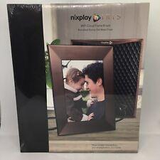 "NEW Nixplay Iris Wifi Cloud Digital Photo Frame 8"" Burnished Bronze Satin Finish"