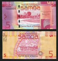 New Sign//Replacement Note p39c UNC 2008//2017 Samoa 10 Tala