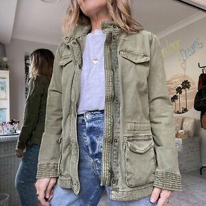 Lucky Brand Los Angeles Utility Jacket Khaki SZ XS-S SHOP MY CLOSET