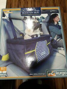 Kurgo Nantucket Stripe Booster Seat Dog Cat Seat Car Auto 30 Pound Max