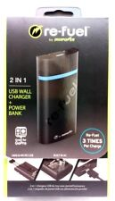 Re-fuel DigiPower USB Wall Charge+Power Bank Black