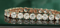 5ct 14K Yellow Gold Finish Diamond Women's Bracelet Bangles Tennis Bracelet 7.5""