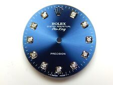 Rolex Mens Air King SS Cobalt Blue with 11 Round Diamond
