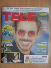 ROBERT DOWNEY JR. on front cover TELE MAGAZYN 8/2018