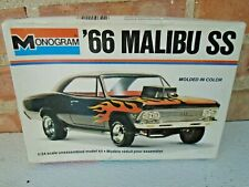 vintage  monogram 1966 chevy malibu ss model kit 2219