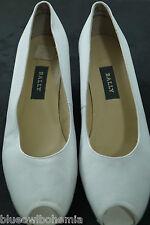 """BALLY Switzerland """"Daya"""" Peep Toe Court Shoes White Pumps Wedding Prom Size 7C"""