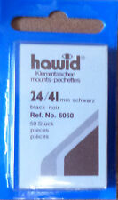 HAWID STAMP MOUNTS BLACK Pack of 50 Individual 24mm x 41mm - Ref. No. 6060