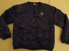 Blue Sewn Dallas Cowboys NFL Football Satin Jacket Youth XL Free US Shipping