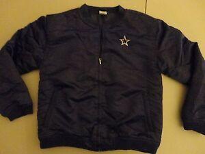 Vintage Blue Sewn Dallas Cowboys NFL Football Satin Jacket Youth XL