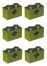 Missing Lego Brick 32064 Black x 6 Technic Brick 1 x 2 with Axlehole