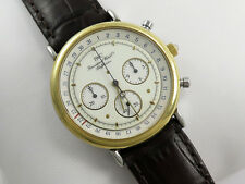 IWC PORTOFINO 18K GOLD & STEEL GENTS MECAQUARTZ CHRONOGRAPH WATCH Ref 3731