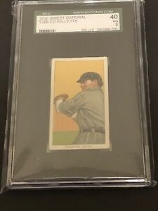 T206 Ed Willetts Sweet Caporal SGC 3 Detroit Tiger