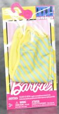 Barbie Accessories Fashion Pack Yellow Blue Stripes Striped Dress Fashionista C3