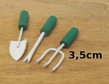 lot outils de jardin miniature,maison de poupée,vitrine,bricolage,outil   CL10